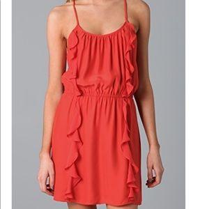 Parker Silk Ruffle Dress